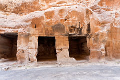 Living ancient caverns  in Little Petra Stock Images