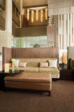 Living area at lobby. Living area at hotel lobby stock photos