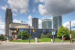 Living Arts Centre in Mississauga, Canada. The Living Arts Centre in Mississauga, Canada stock images