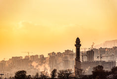 Living atmosphere in Iranian town stock photography