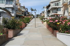 Living. Beautiful homes on a pathway to manhatten beach Royalty Free Stock Photos