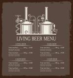 Living beer menu Stock Photo