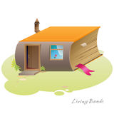 Living Book House Stock Photo
