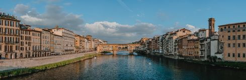 Living bridge in Florence royalty free stock images
