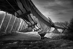 Living Bridge 18-12-2016. The living bridge at the University of Limerick. A bit of trial & error shot to get me out of my comfort zone of F/11, ND Filters & Royalty Free Stock Photos