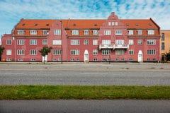 Living buildings in Copenhagen city. Residential housing in the vicinity of Copenhagen stock photo
