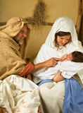 Living christmas scene Stock Photography