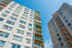 Living in city block of flats Stock Image