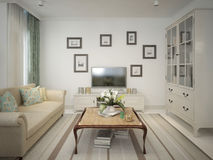 Living classic style. Living in a classic style. 3d model Stock Images