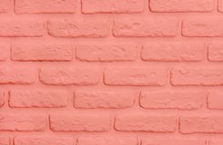 Living coral bricks background. Modern trendy texture royalty free stock photos