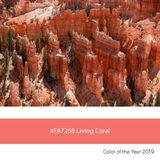 Living Coral Color of the Year, Bryce Canyon stock photography