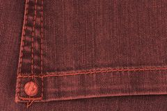 Living Coral Color of the Year 2019. Living coral 2019 color of the year denim jean pocket close up trend concept royalty free stock photography