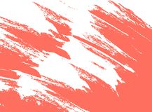 Living coral, color of the 2019 year paint stroke royalty free illustration