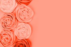 Living coral pantone color stock photo