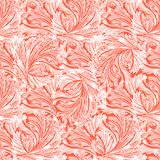 Living coral winter frozen glass seamless pattern. stock illustration