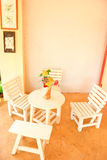 Living corner. Chairs and table at living room Royalty Free Stock Photography