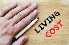 Living cost text concept Stock Images