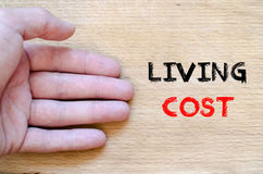 Living cost text concept Stock Photography