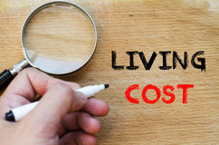 Living cost text concept Royalty Free Stock Photos