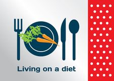 Living on a diet symbol Royalty Free Stock Photography