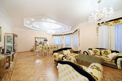 Living and dining room with luxury furniture Royalty Free Stock Photography