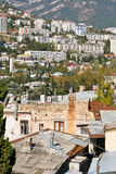 Living district of Yalta city in autumn day, Royalty Free Stock Photo