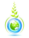 Living Earth. Environmental concept for preservation of the Earth Royalty Free Stock Images
