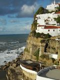 Living on the edge. Portugal landscape in azenhas do mar sintra Stock Images