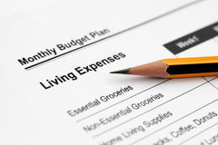 Living expenses Stock Photo