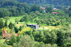 Living in the green environment in Verkiai, Vilnius city Royalty Free Stock Photography