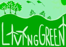 Living green. Image of living green world with respect for ecology Stock Photos