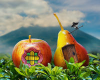 Living in harmony with nature: fresh fruits invite you in Stock Photography