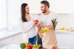 Living a healthy life together. Royalty Free Stock Images