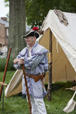 Living historian participating in the War of 1812 Commemoration in Warrenton, Virginia. Stock Photo