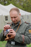 Living history.WWII. Historical reenactment in Kiev.Living history Stock Images