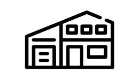 living house black icon animation