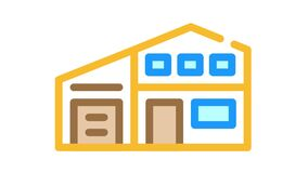 living house color icon animation