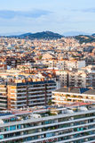 Living houses in Barcelona city on sunset Stock Images