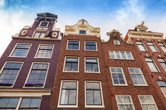 Living houses facades, Amsterdam, Netherlands Stock Images