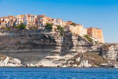 Living houses and fortress, Bonifacio, Corsica Stock Image