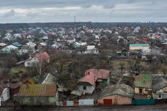 Living houses landscape view in Ukraine Royalty Free Stock Photography