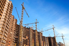 Living houses massive is under construction Stock Image