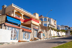 Living houses in new part of Tangier Stock Image
