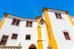Living houses of Sintra, Portugal. Colorful facade Stock Photo