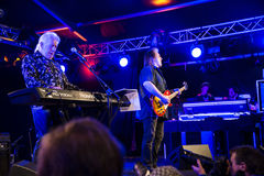 Living legend of the blues, john mayall with band Stock Photography