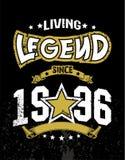 Living legend since 1996. Design t-shirt Living legend since 1996 Stock Photography