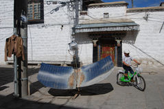 Living in Lhasa Stock Image
