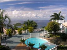 Living like a dream. A luxury home at the caribbean island St. Thomas Royalty Free Stock Images