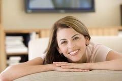 living lying room woman Στοκ Εικόνες