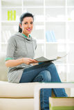 living magazine reading room woman Στοκ Εικόνες